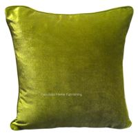 LARGE SIZE SOFT FEEL VELVET PLUSH STYLISH DESIGNER CUSHION COVER LIME GREEN COLOUR
